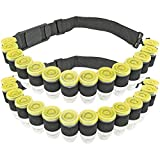 Fairly Odd Novelties Shot Ammo Bandolier w/ 28 Bullet Shaped Plastic Glasses with Lids Perfect Party Novelty Gift, Black