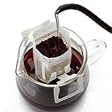 KOBWA Kaffee-Drip-Filter, SingleServe Einweg Kaffee Tee Drip Filtertüten mit hängenden Ohr, 50 GRAF Kaffee-Papier-Filter für die meisten Tassen, Reisen/Home / Office/Camping