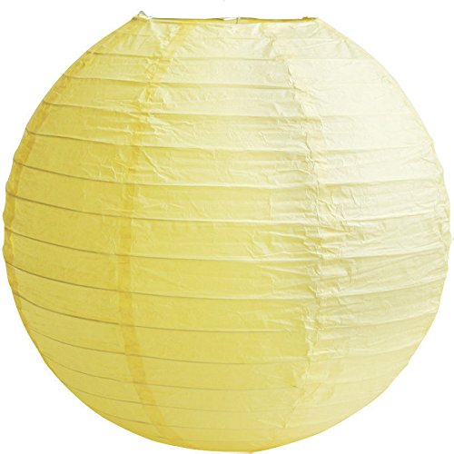 matissa (14 cm) 3-pack), geel, lampenkap van papier, voor bruiloft, party, decoratie