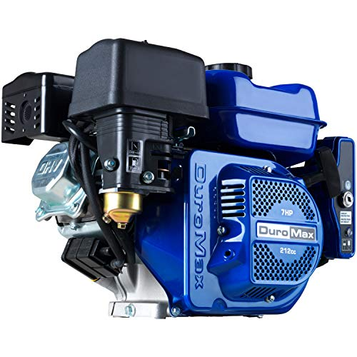 DuroMax XP7HPE 212cc 7HP Electric Start Gas Powered, 50 State Approved, Multi-Use Engine , Blue