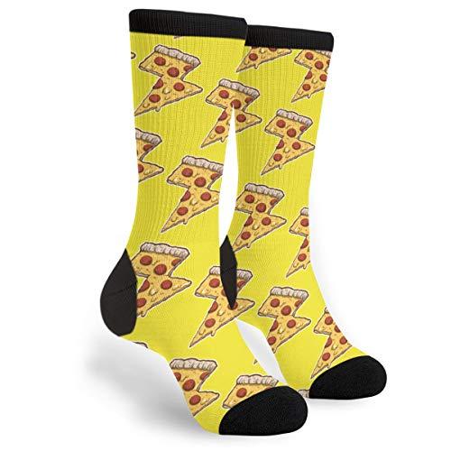 Thunder Cheesy Pizza Novelty Socks For Women & Men One Size - Gifts