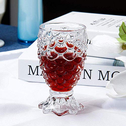 6 delige set dik transparant Whisky Wine Glass home glas wijn Set Crystal Wine Glass Wit wijnglas bierglas Set, 180ml lili (Color : 180ml)