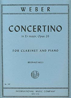 WEBER - Concertino Op.26 en Mib Mayor para Clarinete y Piano (Kell)