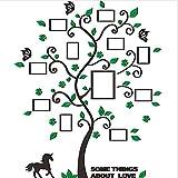 Jiayuane Adhesivos de Pared de árboles 3D Árboles genealógicos con Marco de Fotos Pegatinas de Pared de Bricolaje para la decoración del hogar Sala de Estar vivero 100 x 84 cm / 39'x33