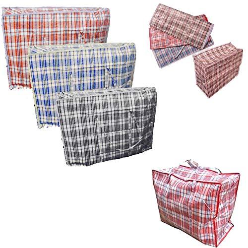 10 x Extra Large sacs à linge réutilisable Fermeture Éclair Shopping Sac de rangement robuste \