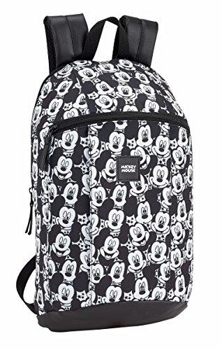 Safta - Mickey Mouse und Minnie Mouse Schulrucksack - Verschiedene Größen (Mickie Mouse Junior, 220x100x390mm)