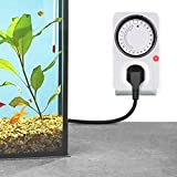 SunGrow Aquarium Light Timer, and Time, Must Have for Aquariums with Plants, Ideal for Hydroponics, and Vivariums - Avoid Microfilm and Stressed Fish, 1 pc