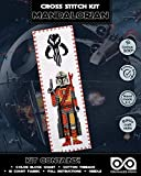 Counted Cross Stitch Kit 'Star Wars: The Mandalorian' - Bookmark Embroidery Kit with Pattern
