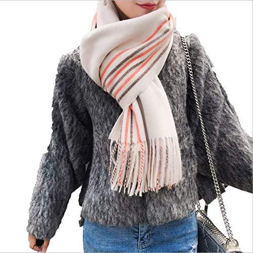 Imitatie kasjmier sjaal vrouwelijke winter dikke lange deel studenten Korea fijne kant slinger kleur kwast sjaal dual use A