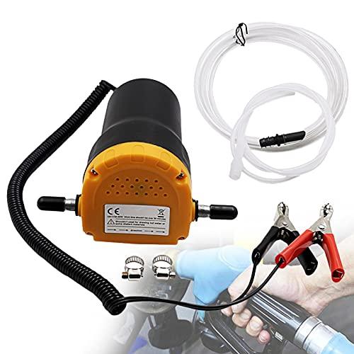 EnweMahi 60W 12V Mini Bomba Transferencia,24Vextractor Aceite Líquido Bomba,7L/Min Succión Dieselsucción,Bomba Líquido...