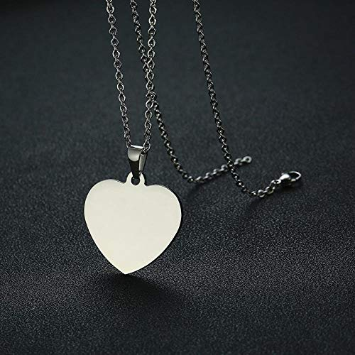 Necklace Pendant Chain Jewelry Simple Heart Pendants For Women Men Necklace Plain Stainless Steel Choker Classic Unisex Jewelry-Silver_60Cm_24_Inch