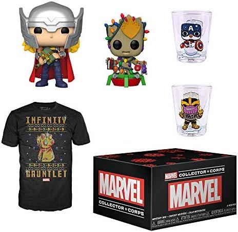 Funko Marvel Collector Corps Subscription Box, Marvel Holiday Theme, November 2019, XL T-Shirt