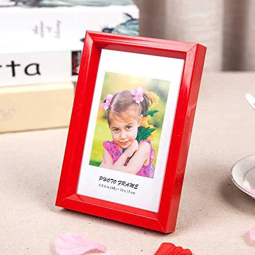 Xqsb Marco Fotos decoracion Marcos de Foto Una Variedad de Estilos Puede Caber 10,2 × 15,2 cm Rojo