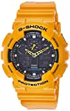 Casio G-SHOCK Orologio 20 BAR, Giallo/Nero, Analogico - Digitale, Uomo, GA-100A-9AER