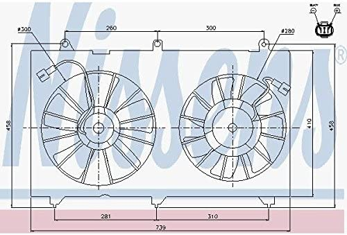 Free Shipping Spasm price Cheap Bargain Gift Nissens 85269 radiator Fan