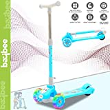 Baybee Skate Scooter for Kids Toddlers 3 LED Wheels Lightweight-Folding Kick Kids Scooty