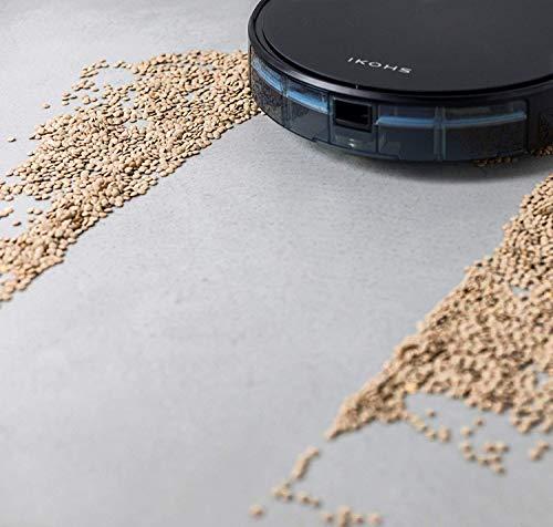 IKOHS netbot S15 - Robot aspirapolvere Professionale 4 in 1, Scopa, Aspira, Passa Il Panno E Lava, Adatto a Pavimenti e Tappeti, Ottimo per i Peli degli Animali Domestici (Netbot S15 / Boom)