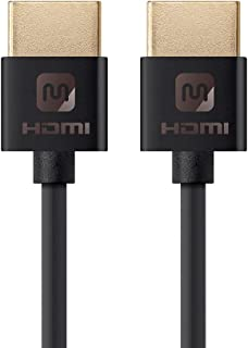 Monoprice 113576超薄系列高速 HDMI 线缆,黑色