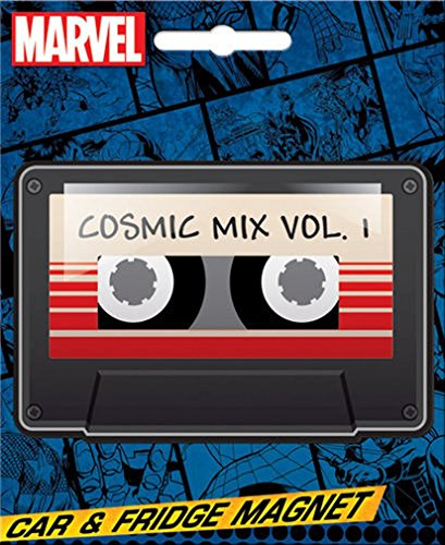 Ata-Boy Marvel Comics Die-Cut Guardians of The Galaxy Cosmic Mix Tape Magnet for Cars, Refrigerators and Lockers