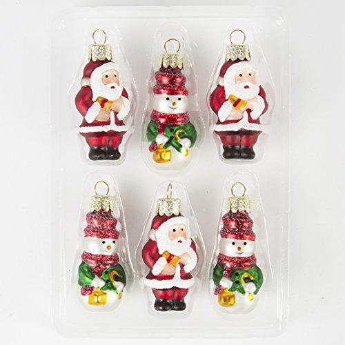 Sass & Belle mini Babbo Natale e pupazzo di neve albero di Natale Decorazioni