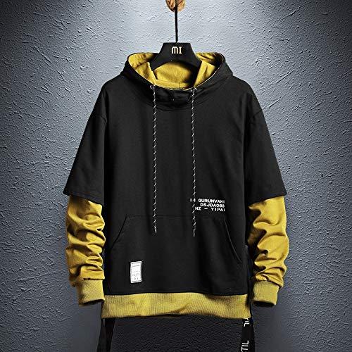 WDDGPZ1 Sweat-Shirt Colorblock Hoodie Mens Sweatshirt Hommes Hip Hop Pull Hoodies Streetwear Casual Mode Vêtements