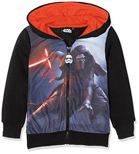 Star Wars DHQ1132, Felpa con Cappuccio Bambino, Multicolore, 3-4 Anni (taglia produttore: 4 anni)