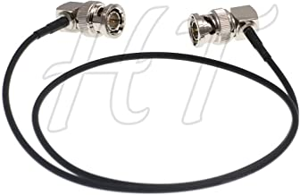 HT-Cable Camera Monitor HD SDI 3G Video Coaxial Cable 75ohm Right Angle BNC to Right Angle BNC Cable (60cm, 1pcs)