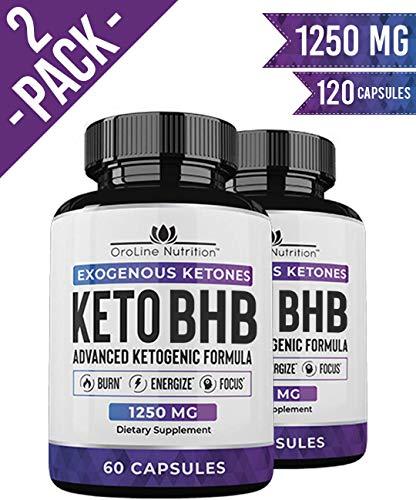 Keto Pills - (2 Pack   120 Capsules) Advanced Keto Burn Diet...