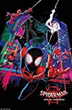 Trends International Marvel Cinematic Universe Man-Into The Spider-Verse-Group Wall Poster, 22.375 in x 34 in, Unframed Version