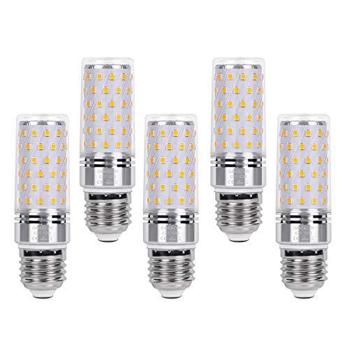 SanGlory 5 Stück E27 LED Lampen Warmweiss 3000K, 12W E27 LED Leuchtmittel Ersatz 100W Glühlampe, 1350LM, E27 LED Mais Birnen Maiskolben Nicht Dimmbar (5er 12W E27 Warmweiß)