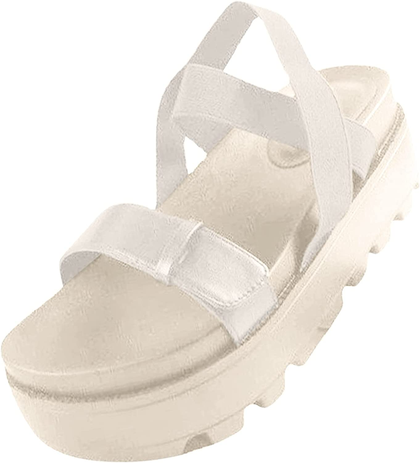 ZiSUGP Summer Large Size Roman Sandals With Thick Soles And Buckles