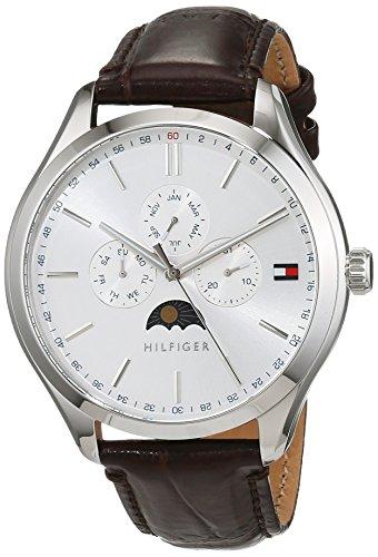 Tommy Hilfiger Herren Multi Zifferblatt Quarz Uhr mit Leder Armband 1791304