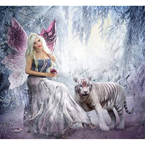5D Diamond pintura de diamantes,Sunnay Hada Grandes Mariposas Cuadro por Principiantes Infantil Princesas Christmas,30 x 40 cm