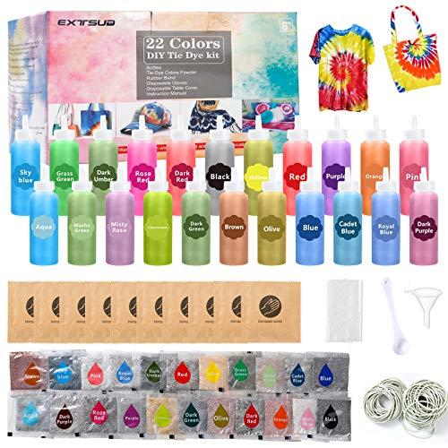 EXTSUD Tie Dye Kit, Tinturas para Ropa, Set de Colorantes pa
