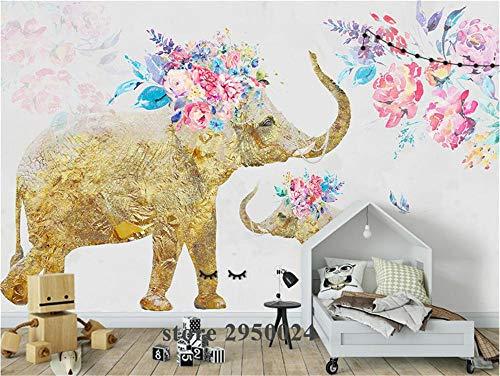 Muurschildering achtergrondfoto aangepaste 3D wallpaper handgeschilderde olifanten foto behang voor woonkamer tv-achtergrond keuken studie slaapkamer muurschilderijen, aFcvs46
