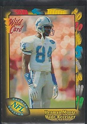 1991 Wild Card Herman Moore Lions Rookie Football Card #106