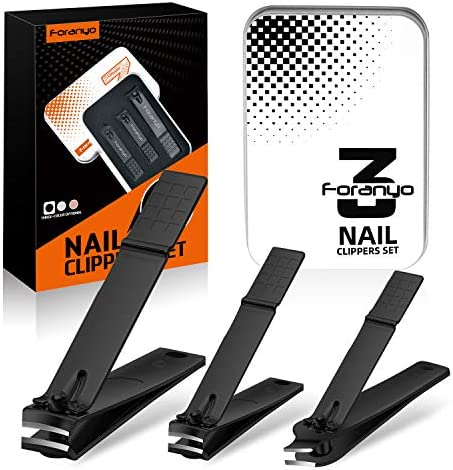 Foranyo Nail Clippers Professional Manicure Pedicure Set 3PCS Fingernail Toenail Clippers Sharp product image