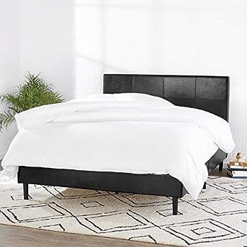 Amazon Basics Faux Leather Upholstered Platform Bed Frame