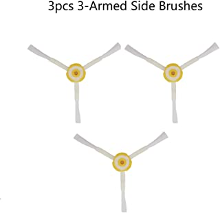 Lixada 3pcs Robot Vacuum Cleaner Parts Side Brush 3-armed Replacement for iRobot Roomba 500 600 700 Series Cleaning Sweeper