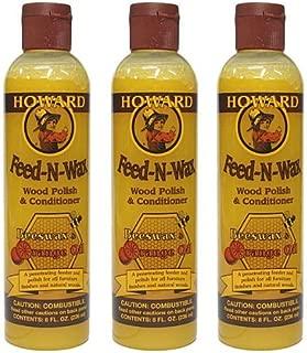 Howard Feed-N-Wax(フィーデンワックス)×3本セット (8oz./236ml×3本=708ml)