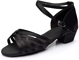 Lonupazz Chaussures De Danse Parent-Enfant Escarpins Femmes Ballerines Moderne Talons Bas Rumba Waltz Prom Ballroom FêTe L...