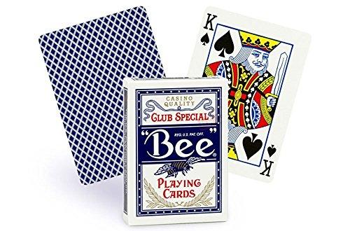Bee Cartes à jouer N ° 92standard Index simple Deck Bleu (arrière)
