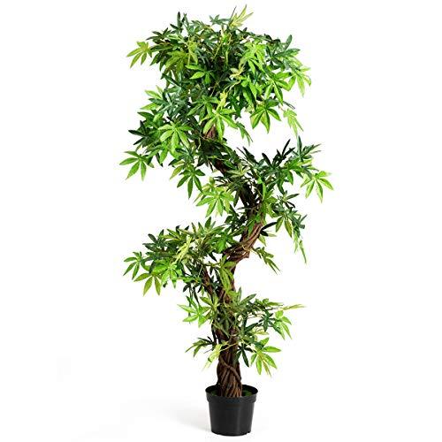 DREAMADE Kunstbaum Groß, Zimmerpflanze Stabil, Kunstpflanze Grün,Dekopflanze Künstlich mit Topf, Künstliche Palme Zimmerpflanz