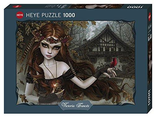 Heye 29829 Redbird Standard 1000 Teile, Victoria Francés, Favole, Black