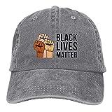 N \ A Black Lives Matter Casqueta al aire libre Gorra de béisbol clásica de algodón ajustable sombrero unisex cubo accesorios de béisbol gris