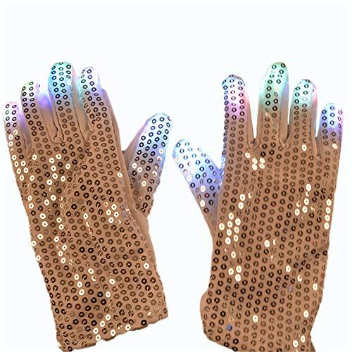 Lfives-hm Leuchtstab Patch Handschuhe Luminous Handschuhe LED Glow Cool Dance Ausrüstung Halloween Weihnachten Lieferungen für Glow Party Supplies