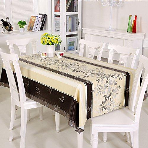 ZWL Nappe PVC composite Rectangle Table Tissu Tissu à café étanche Etanche à l'huile , Ajoutez de la vitalité à la cuisine ( Couleur : C , taille : 90*138cm )