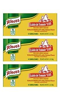 Knorr Tomato Chicken Flavor Bouillon Cubes 8 Count Box - 3 Pack  Tomato Chicken