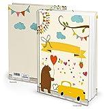 Logbuch-Verlag XXL Malbuch Kinder BÄR Notizbuch Buch leer Mädchen Junge Geschenk Weihnachten Malen Basteln Kreativ Baby Tagebuch ohne Inhalt DIN A4