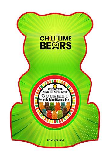 Happy Yummies Worlds Best Tasting Gourmet Gummies Chili Lime Bears 13oz